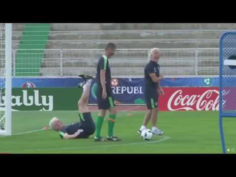 Roy Keane Pranks Goalkeeping Coach!! Ireland Euro 2016