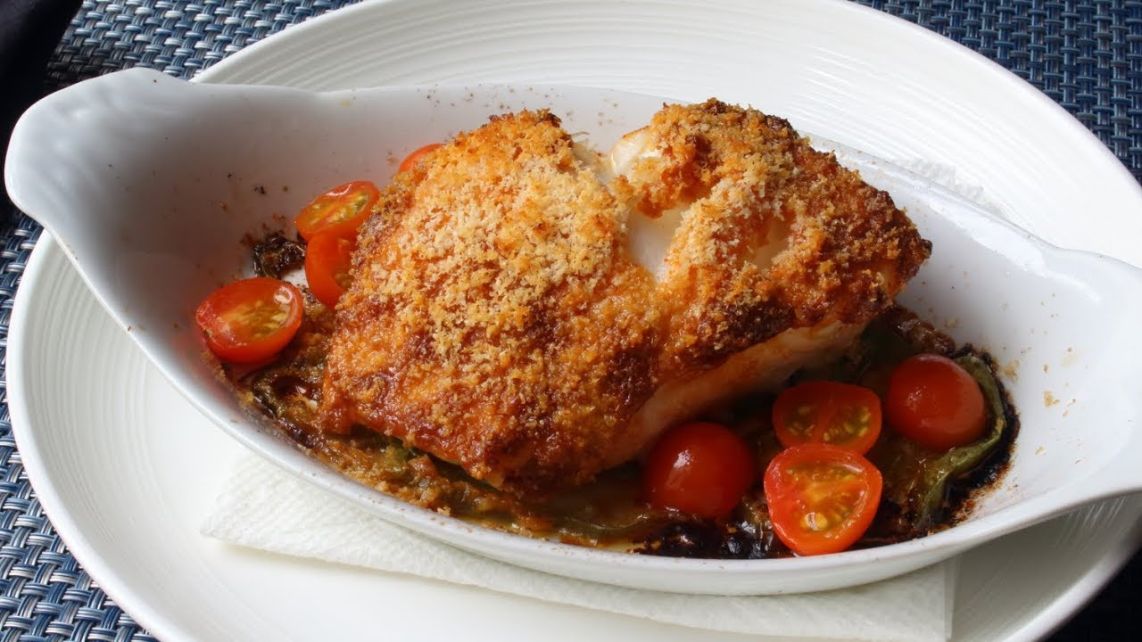 Sea Bass San Sebastian Spanish Inspired Garlic Pepper Almond Crusted Sea Bass Recipe