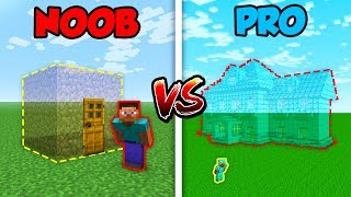 Minecraft NOOB vs. PRO: INVISIBLE HOUSE! | AVM Shorts Animation