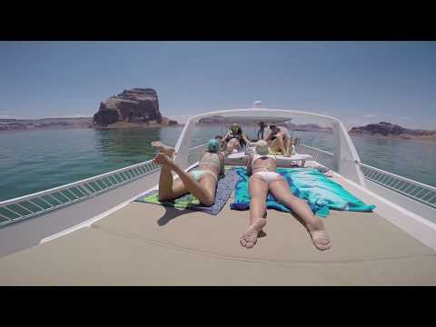 epic Lake Powell houseboat bday party