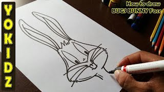 Draw Bugs Bunny Face How To Draw In 5 Minutes Youtube Draw a line, which will act as the center of the head. draw bugs bunny face how to draw in 5 minutes