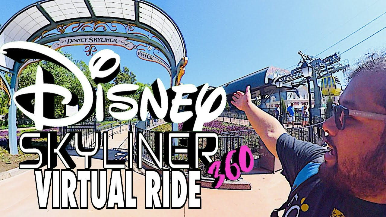 Disney SKYLINER Virtual Ride!!! || Epcot to Caribbean Beach Resort in 360 ||