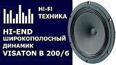 Прослушивание широкополосных динамиков VISATON B200 и BG20 в ЗЯ 20 .