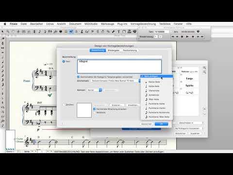 Finale 25 - Quicktipp Mac - Tempoangaben hinzufügen oder ändern