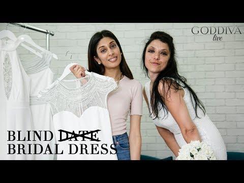 arrives rational construction great prices Blind Bridal Dress   Goddiva Live - YouTube