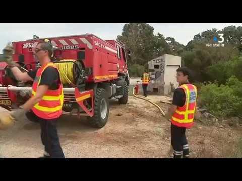 Corse-du-Sud : 67 pompiers de l'Ardèche et de la Drôme viennent appuyer leurs collègues insulaires - - France 3 Corse ViaStella