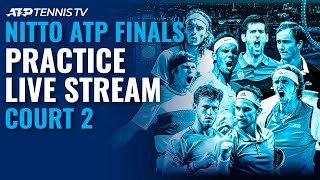 2020 Nitto ATP Finals: Live Stream Practice Court 2 (Friday)
