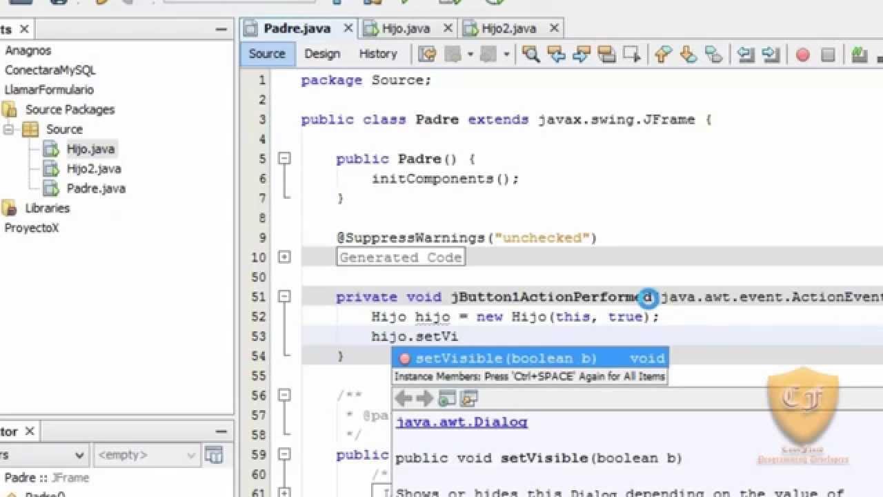 Llamar JDialog desde JFrame - Java - YouTube
