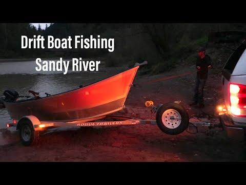 Drift Boat Fishing On The Sandy River, Oregon   Fall Salmon Fishing