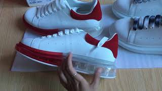 My Friend Video:MC Queen Alexander Red Air Cushion Sneakers VS Alexander McQueen Gradient Laces