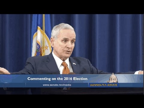 Governor Dayton Comments on 2016 Election Results