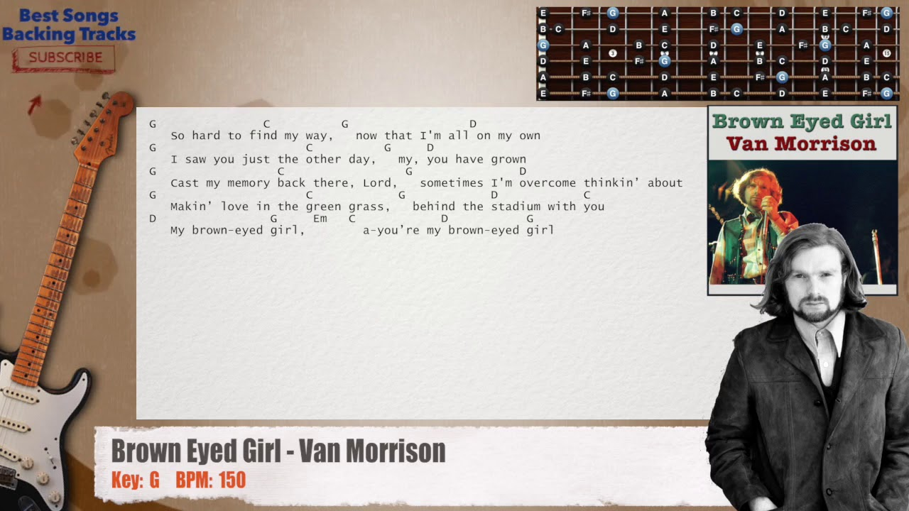 how to play brown eyed girl guitar