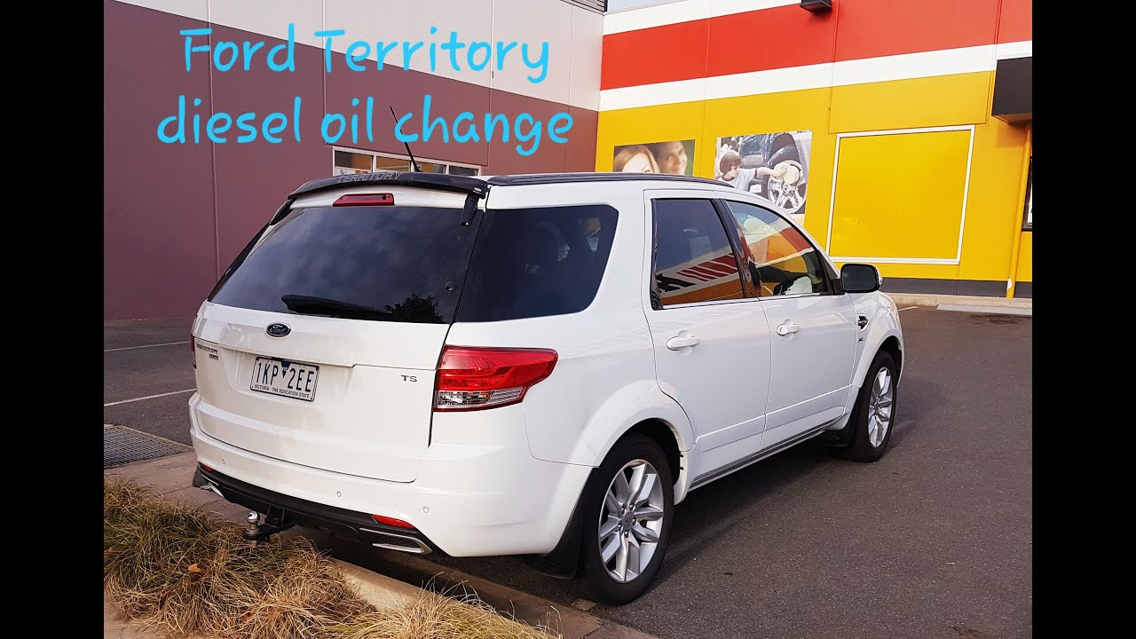 Ford Territory SZ diesel oil change and service