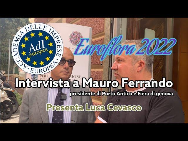 Presentazione Euroflora 2022   Mauro Ferrando