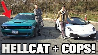 Racing Tall Guy Car Reviews HELLCAT + COPS!!