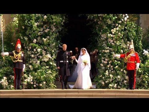 Se casaron el Principe Harry y la actriz Meghan Markle en el castillo de Windsor