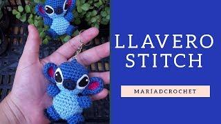 Keychain - Llavero Stitch a Crochet / Aprende a tejer a Stitch, tutorial completo.