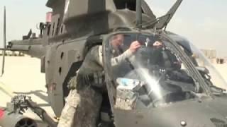 Afghan MI-35 Hind & U.S. OH-58 Kiowa Helicopters Combine Live Fire