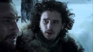 Benjen Stark se despide de Jon Snow