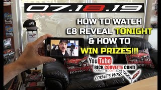 HOW TO WATCH C8 CORVETTE REVEAL TONIGHT & WIN PRIZES
