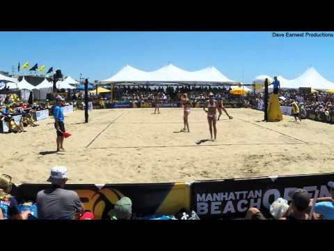 Walsh-Jennings/Ross vs. Fendrick/Sweat, 2014 AVP Manhattan Beach Open Women's Final