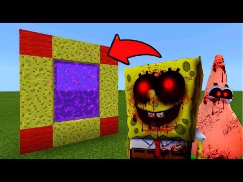 Minecraft Pe How To Make a Portal To The SpongeBob.EXE Dimension
