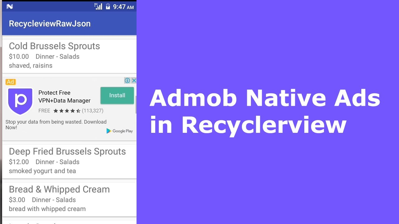 Admob Native Ads in Recyclerview