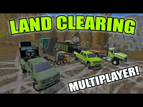 FARMING SIMULATOR 2017 | LAND CLEARING | HAULING WOODCHIPS + MOBILE HOMES