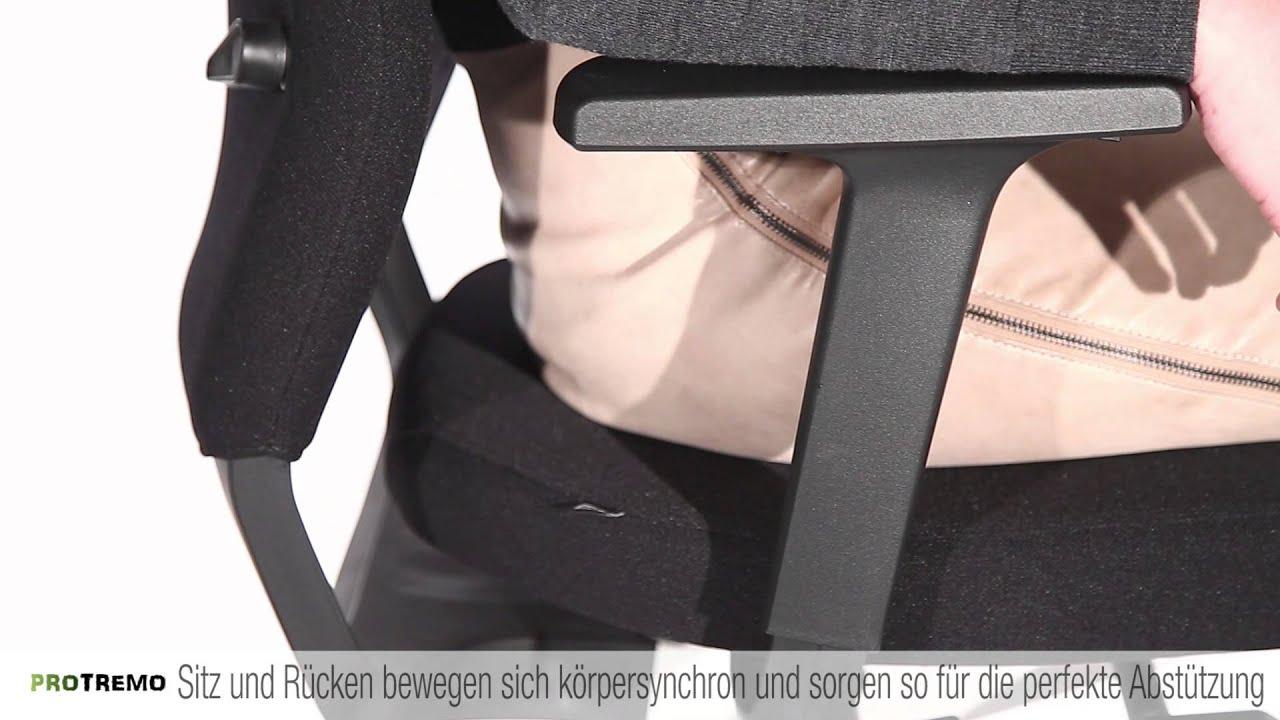 b rostuhl sedus quarterback komfortpolster f r ergonomisch gesundes sitzen youtube. Black Bedroom Furniture Sets. Home Design Ideas