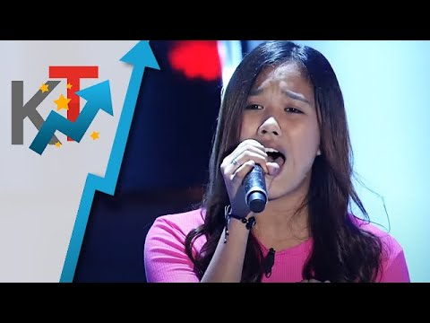 Heart Salvador performs Someone You Love for her blind audition in The Voice Teens