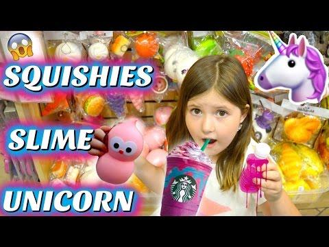 SQUISHIES, SLIME & UNICORN FRAPPUCCINO HUNTING! Shopping Mall Vlog | Sedona Fun Kids TV