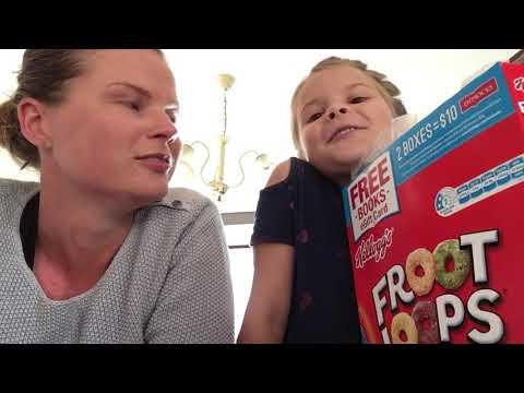 Challenge 1: Scarlett tries froot loops!