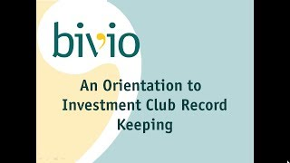 Orientation To Investment Club Accounting
