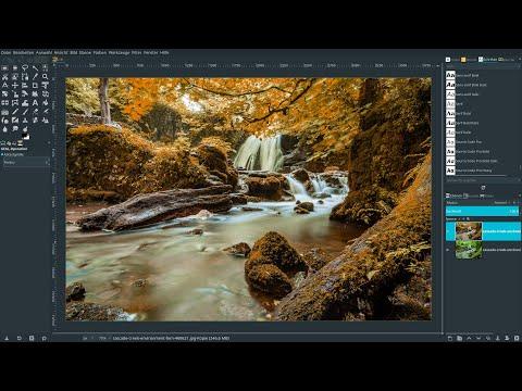 Gimp 2.10.14 Lernvideo: Atmosphäre durch Einfärben eines Fotos erzeugen thumbnail