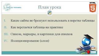 🐘 Курс HTML, урок 6: Таблицы, слои и позиционирование