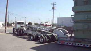 HEAVY HAUL PETERBILT 9 AXLE LOWBOY HAULING TRANSFORMER