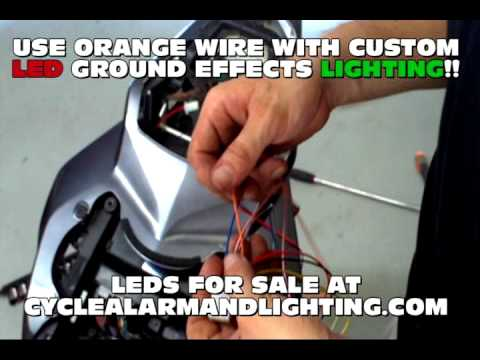 how to install motorcycle alarm system bought from cyclealarmandlighting.com on 2007 yamaha r6