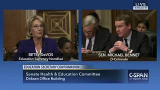 Raw Video: DeVos Reviews Michigan Charter Performance at Confirmation Hearing