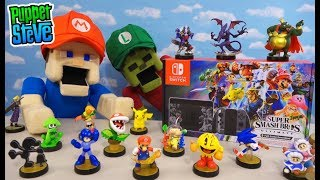 Super Smash Bros. Ultimate Nintendo Switch Console Unboxing & Gameplay (Limited Edition Bundle)