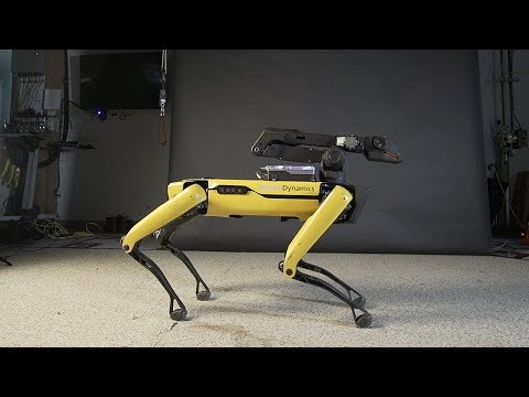 Scottro - Robot Dog Dances To 'Uptown Funk'