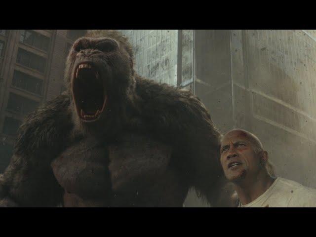 Dwayne Johnson se enfrenta a monstruos gigantes en el tráiler de Rampage