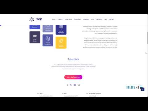ITok - ICO And Cryptocurrency WordPress Theme      Warrick Milo
