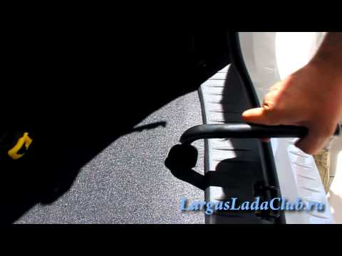 Как снять запасное колесо на лада ларгус