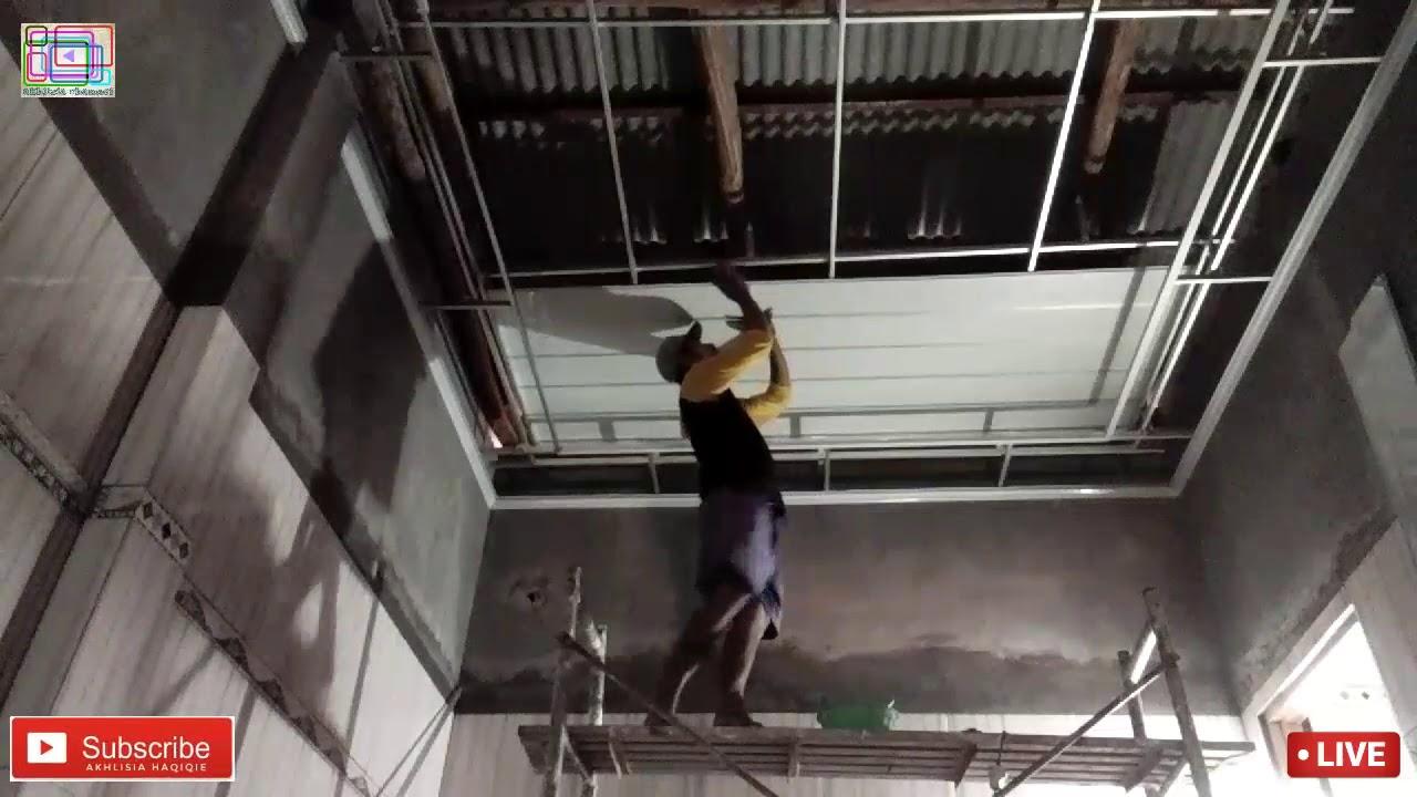 cara pemasangan rangka hollow buat