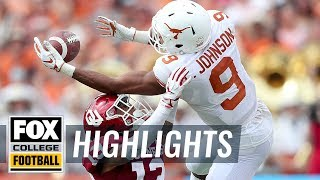 Texas vs. Oklahoma | FOX COLLEGE FOOTBALL HIGHLIGHTS