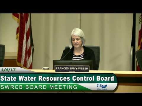 SWRCB Board Meeting  - January 04, 2017