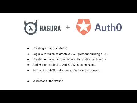 Hasura + Auth0 tutorial including multi-role setup and