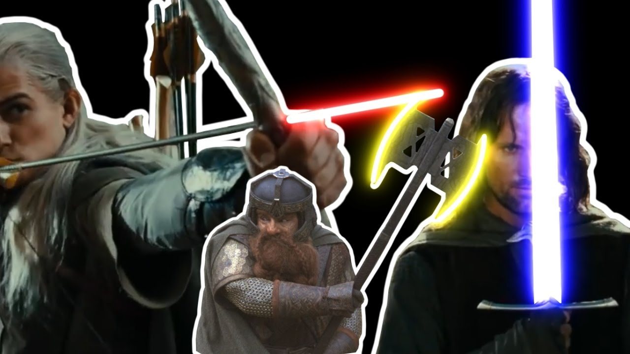 The Lord Of The Rings Battle Of Amon Hen Lightsaber Youtube