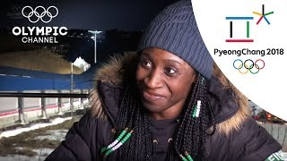 Simidele Adeagbo supports Nigeria's Bobsleigh team  | Day 12 | Olympics 2018 | PyeongChang