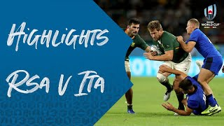 Highlights South Africa v Italy Rugby World Cup 2019